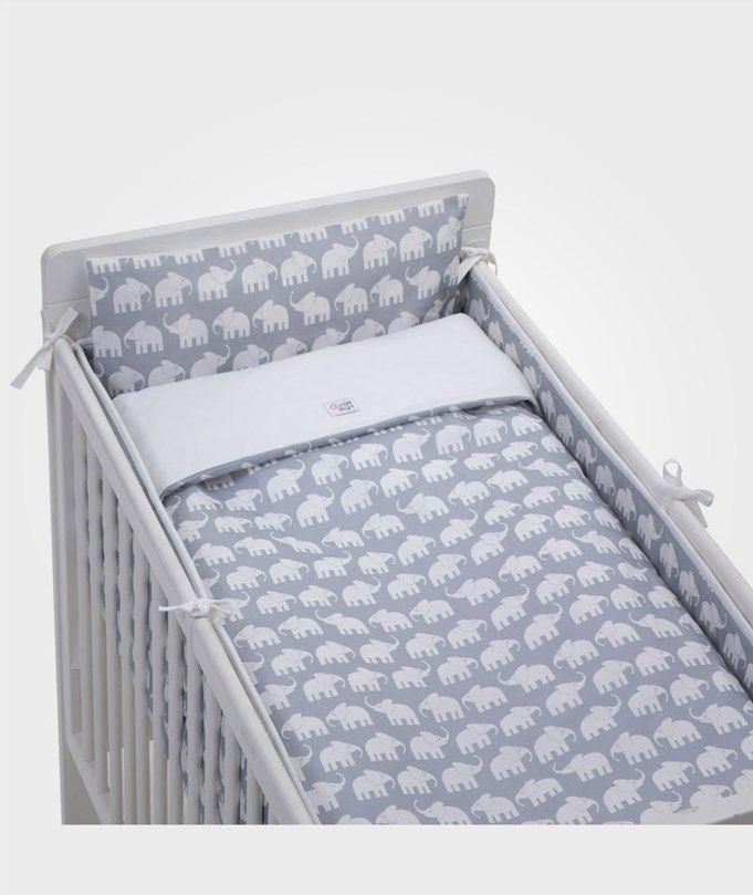 Bedset Crib Elephant Grey