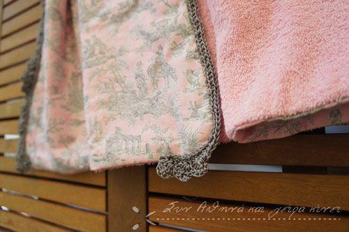 Handmade Sea Towel.... Belle Epoque: Rose Dahlia