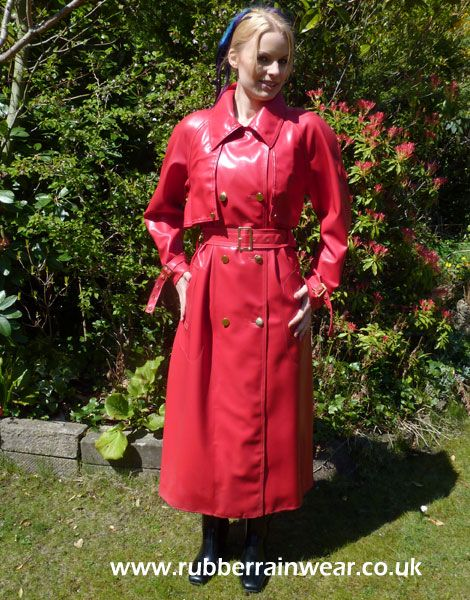 Fancy a peak under this gorgeous babe's Rubber Rainwear? Find more on our website!