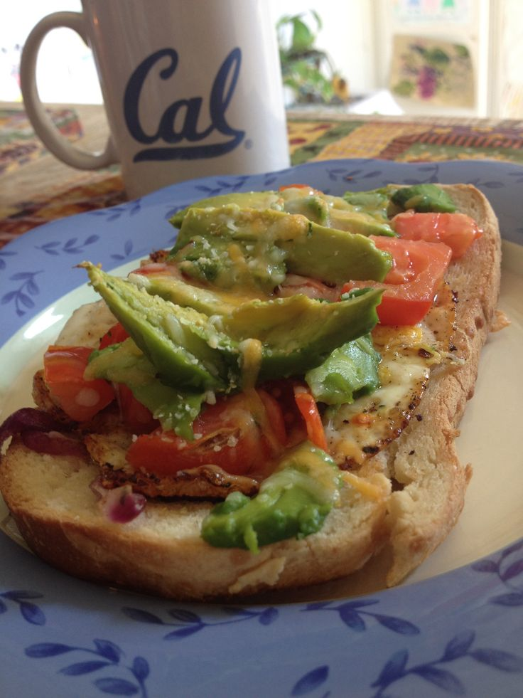 ... grilled in cumin and garlic Diced tomatoes Sliced avocado Cheddar