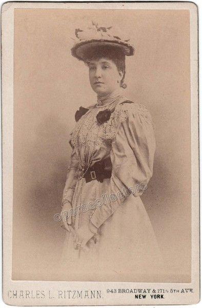 Melba, Nellie - Cabinet Photo by C. Ritzmann, New York