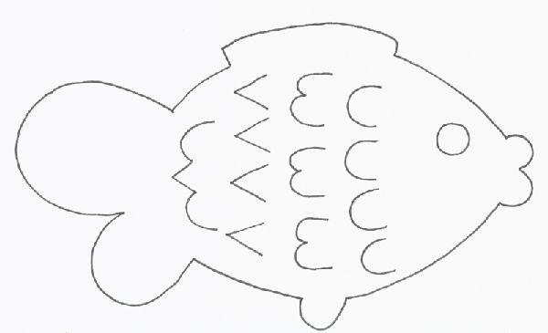 ryba - šablona