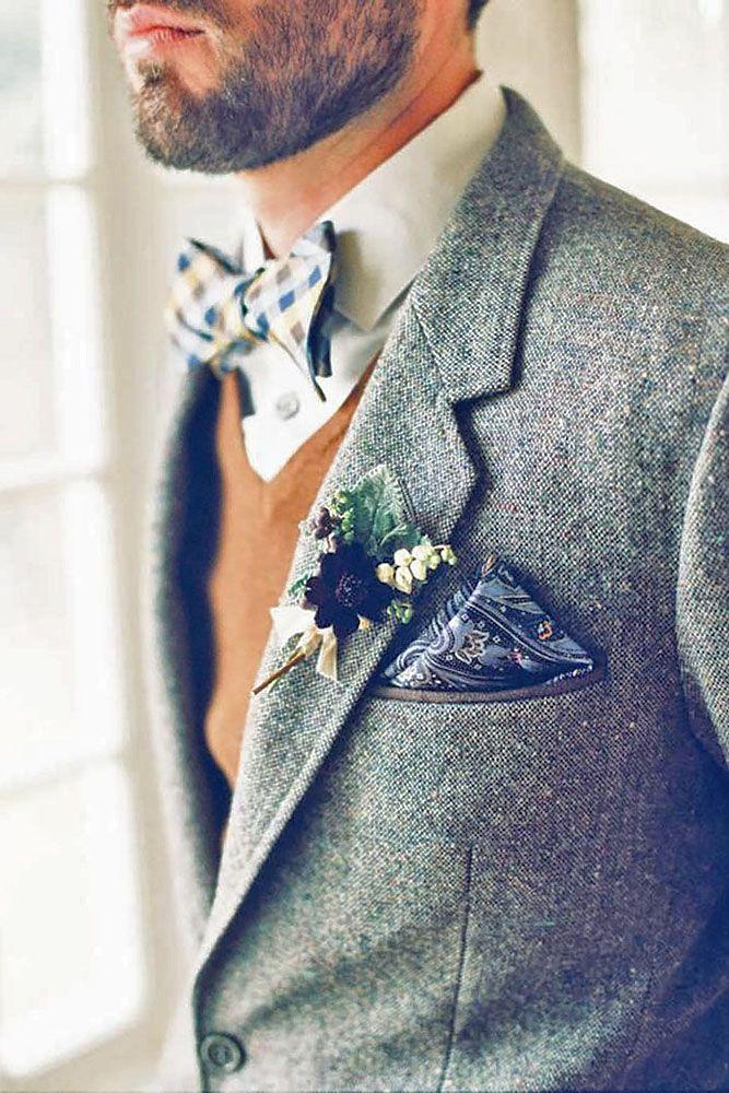 Stilysh Groom Attire For Winter Weddings ❤ See more: http://www.weddingforward.com/groom-attire/ #weddings