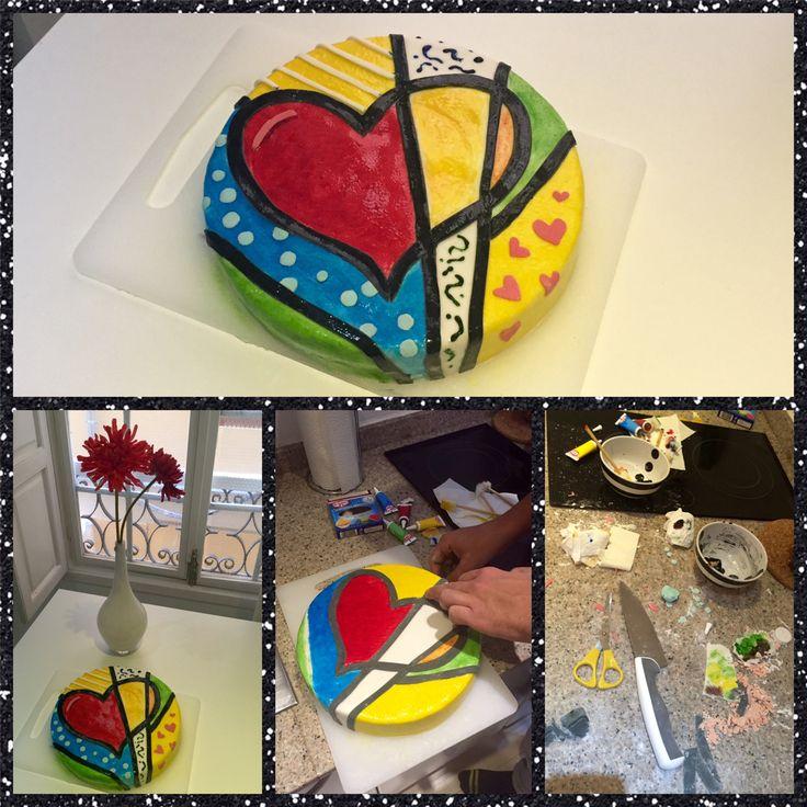 Romero Britto Cake