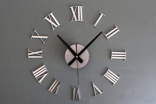 Want a giant wall decor element without the giant price tag? This decorative, static clock will fill a large block of wall space with elegant sophistication. With a few hours of work, and under $100, you can make this decorative statement piece in one afternoon!   Supplies: