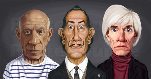 Rob Snow | caricatures - Great Artists art | decor | wall art | inspiration | caricature | home decor | idea | humor | gifts