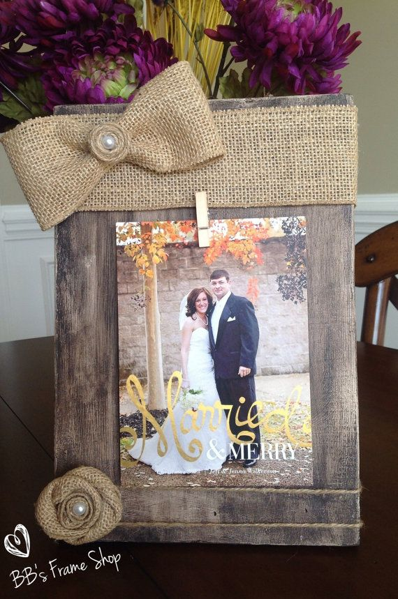Handmade distressed wooden picture frame with by BBsFrameShop, $30.00