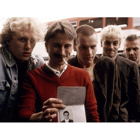 """Trainspotting"" (1996). • Ewan McGregor (Renton) • Johnny Lee Miller (Sick Boy) • Ewen Bremner (Spud) • Kevin McKidd (Tommy) • Robert Carlyle (Begbie) Which one is your favorite character? #trainspotting #dannyboyle #ewanmcgregor #robertcarlyle #cinephilecommunitycinema_magic"