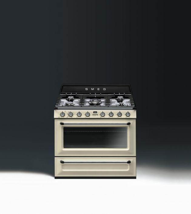 Elektrogeräte Küche   Retro Design Von Smeg   Produkt   Gaskochfeld 90 Cm  Creme   Designlinie Victoria   SMEG Hausgeräte GmbH