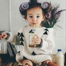 Nieuwe MAKA KIDS Jongen Meisjes Trui Dikke Driehoek Vintage Bobo Choses Kikikids Baby Meisjes Kleding Jumper Lente Herfst Kids Kostuum(China (Mainland))