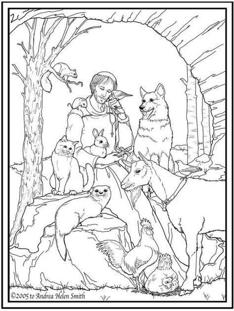 16 Best Santi Da Colorare Images On Pinterest Catholic Catholic St Francis Of Assisi Coloring Page