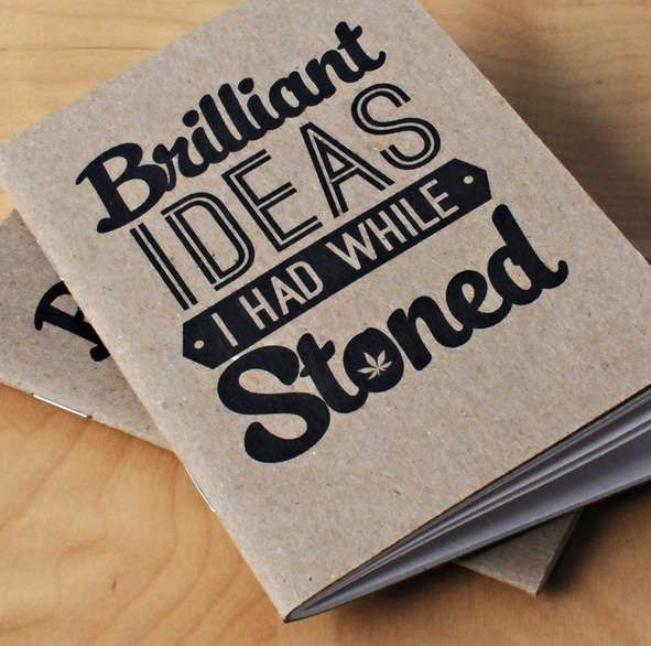 These Stoner Books are Perfect for Jotting Down Brilliant Ideas #school trendhunter.com
