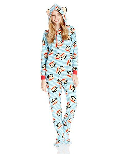 Paul Frank Women's Footed Pajama Onesie with Hood , Blue/Red, Large Paul Frank http://smile.amazon.com/dp/B00LHVAMTU/ref=cm_sw_r_pi_dp_HlkGub1ERTNHQ