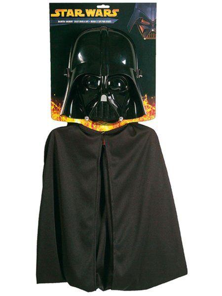 """https://11ter11ter.de/46550360.html Maske """"Darth Vader"""" mit Umhang für Kinder #11ter11ter #maske #kinder #fasching #halloween #kostüm #outfit #mask"""