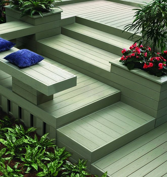 Pvc deck material my style pinterest a well wolves for Composite decking colors available