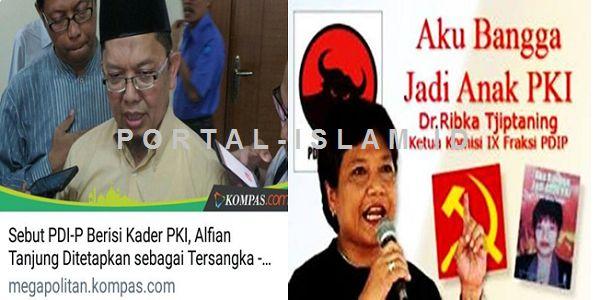 """BUKTI KEBOHONGAN 'GEBUKAN' PEMERINTAH: Penulis Buku """"Aku Bangga Jadi Anak PKI"""" AMAN Ustaz Anti PKI Malah DIGEBUK  [PORTAL-ISLAM]Gara-gara ceramahnya tentang adanya PKI di tubuh P DIP di Surabaya akhir Februari 2017 lalu Ustaz Alfian Tanjung kini harus mendekam di balik jeruj besi. Penetapan tersangka dan penahanan Ustaz Alfian Tanjung tersebut dinilai aneh oleh beberapa pihak. Pasalnya apa yang dibicarakan Alfian memang benar adanya. Ketua Komisi IX dari Fraksi P DIPRibka Tjiptaning…"""
