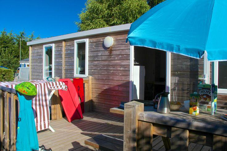 terrasse du modèle ty bihan au camping le lac à carnac en bretagne