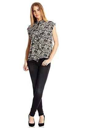Pepe Jeans London Camicia Donna Megan (Écru/Nero)