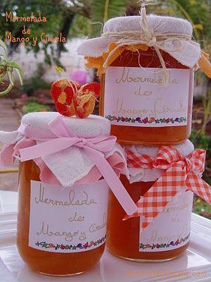 Las recetas de Sara: Mermelada de Mango y Ciruela ( Convencional)