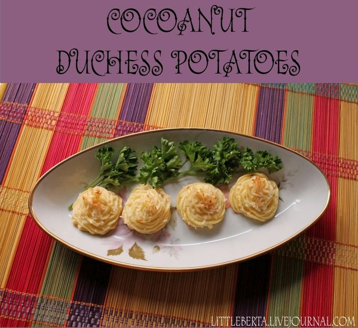 Cocoanut Duchess Potatoes | by Little Berta #recipe #potato #dinner