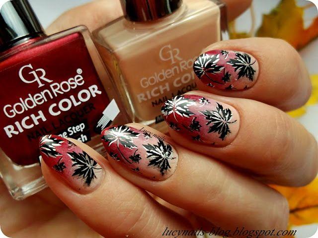 Jesienne paznokcie z Golden Rose