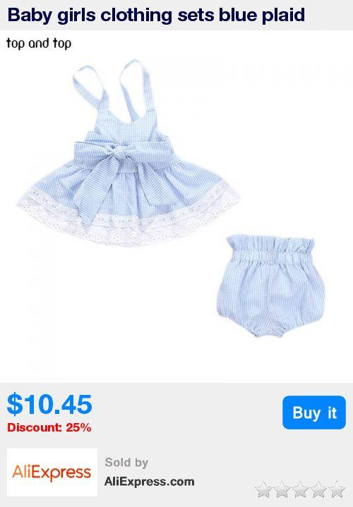 Baby girls clothing sets blue plaid bowknot vest dresses + underwear 2pcs/sets 2017 summer infants cotton clothes suit * Pub Date: 06:51 Jun 22 2017