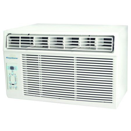 Keystone 8,000 BTU 115V Window-Mounted Air Conditioner with Follow Me LCD Remote Control, White