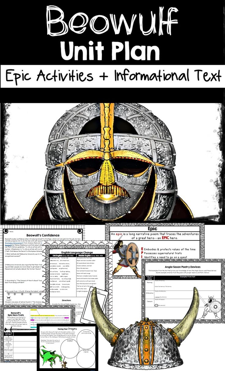worksheet Beowulf Worksheets 23 best beowulf images on pinterest storyboard anglo saxon and unit plan with tons of activities informational text