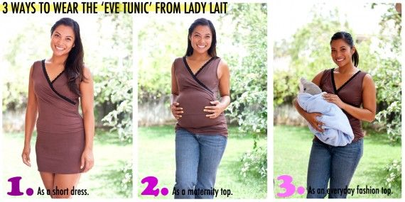 3 ways to wear the Eve Tunic from Lady Lait and Baby Bump Fashion