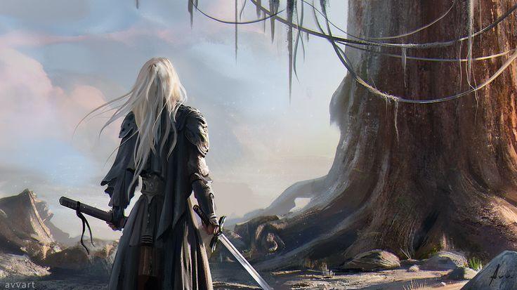 Ancient tree, Aleksei Vinogradov on ArtStation at https://www.artstation.com/artwork/rXegO