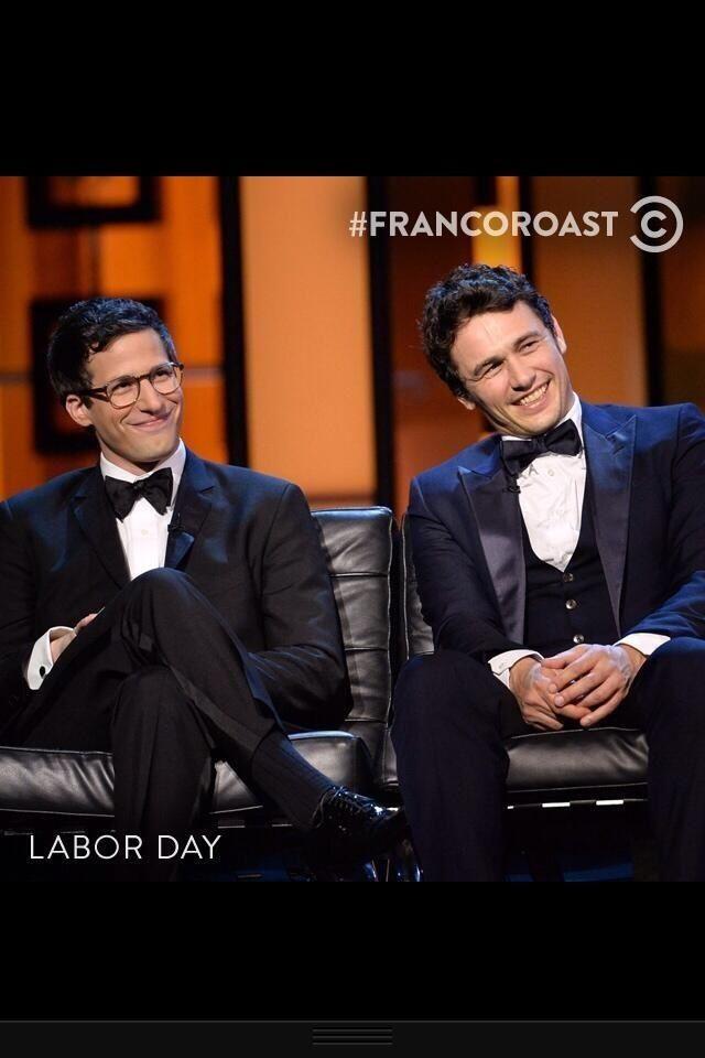 #FrancoRoast, James Franco  Andy Samberg