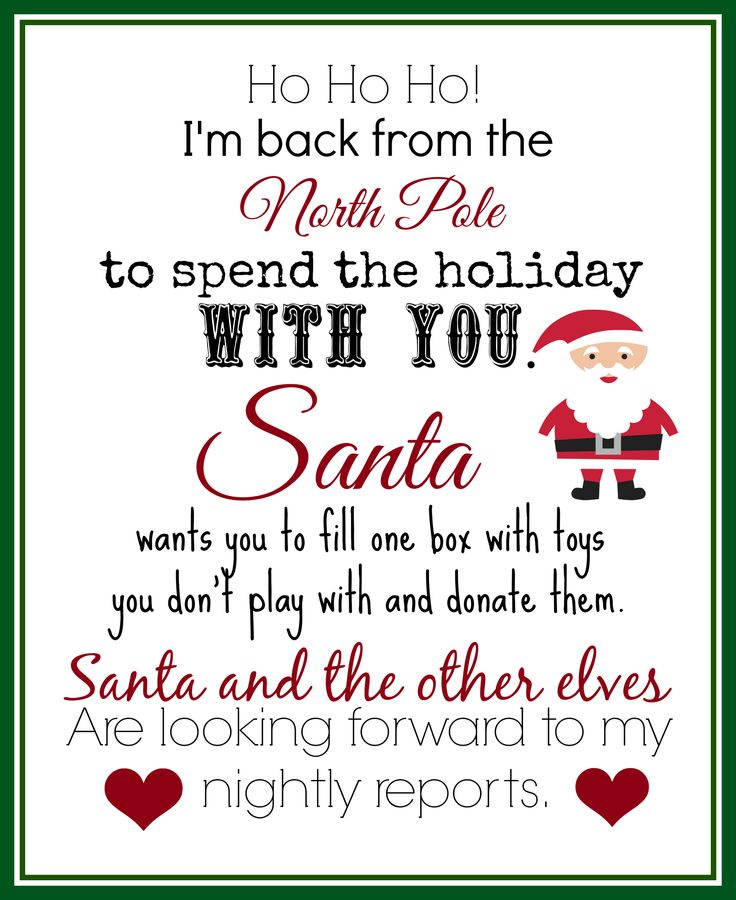 This Free Printable Elf Returns Letter Is Great For The