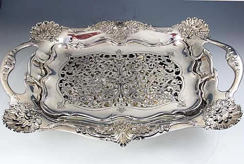 Tiffany antique sterling silver asparagus tray. Those Victorians had an accessory for everything!