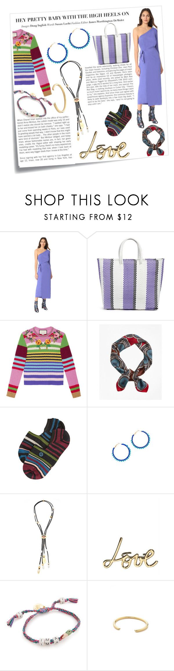 """""""The beat fashion is on the streets"""" by emmamegan-5678 ❤ liked on Polyvore featuring Post-It, Mara Hoffman, TRUSS, Gucci, Brooks Brothers, Stance, Rebecca Minkoff, Lizzie Fortunato, Lanvin and Venessa Arizaga"""