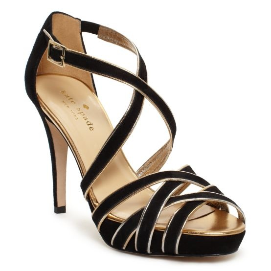 oooh i love heels.Fashion Style, Lady Shoes, Gingers Shoes, Gingers Strappy, Gingers Heels, Black Shoes, Sandals, Kate Spade Gingers Sexy, Spade Black