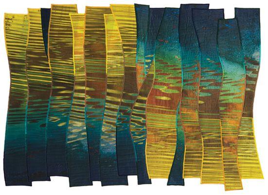 "Quilt National 2015: ""Liquid Sunset"" by Charlotte Ziebarth, USA"