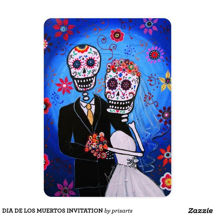 DIA DE LOS MUERTOS WEDDING INVITATION  MATRIMONIO, DIA DE LOS MUERTOS INVITATION Celebration of Day of the Dead, familia, mama, papa, mamita, tio,tia, bebe, loved ones, bestfriend, party, fiesta, banderitas, mariachi, guitar, gitara, singing, dancing, el gato, frida kahlo, florals, flowers, ofrenda, familia
