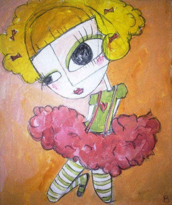 Original acrylic on canvas by Melbourne artist Briellen Baker