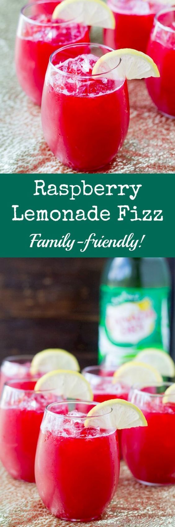 "Make Raspberry Lemonade Fizz the ""signature drink"" at your next party! It only takes 3 ingredients and everything can be made ahead. @culinaryhill"