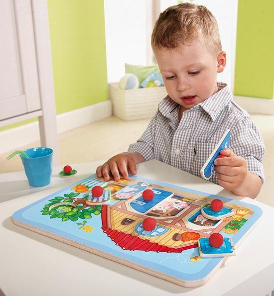 Puzzle s úchytkami Farma - www.maxus.sk/detsky-sen/velkonocny-darcek/puzzle-s-uchytkami-farma.html