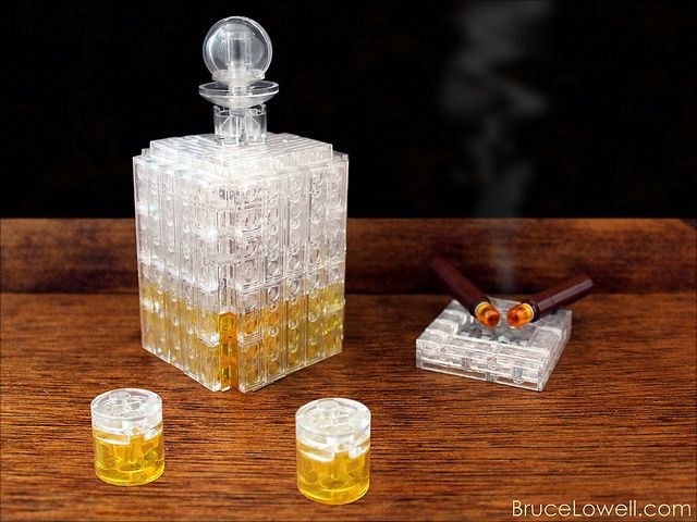 LEGO Whiskey and Cigars by bruceywan on Flickr.