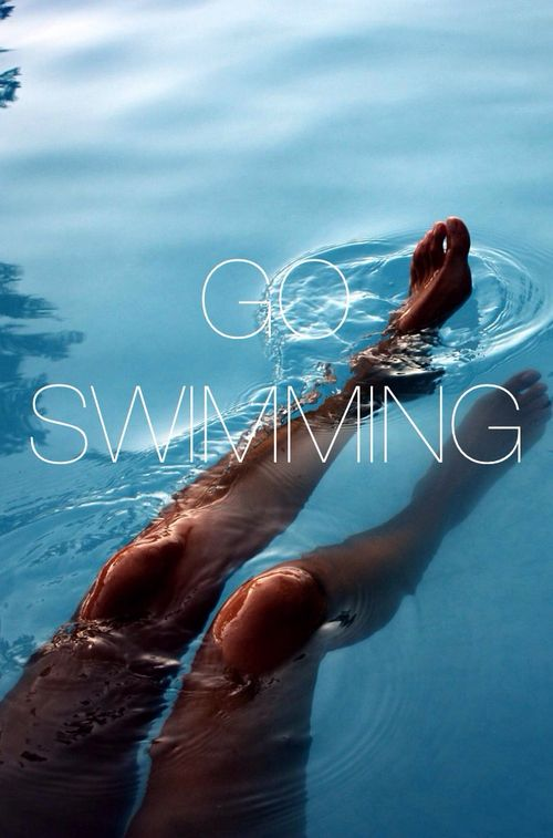 Go swimming! Seriously! Not only is swimming a relaxing activity, it also has a host of health benefits.: