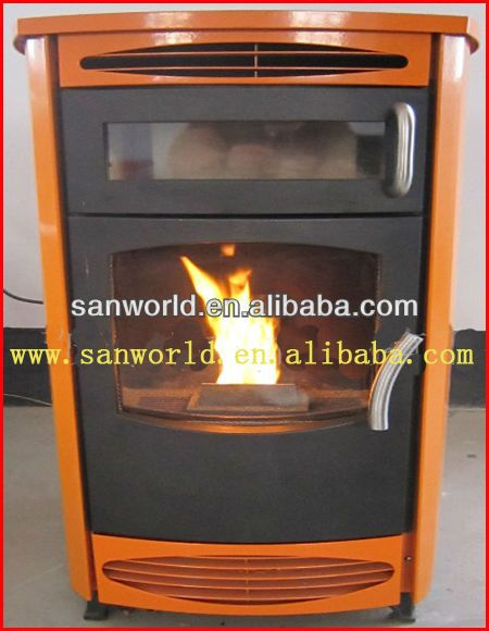 Wood Pellet Cooking Stove With Oven Automatic Feeding Cheap