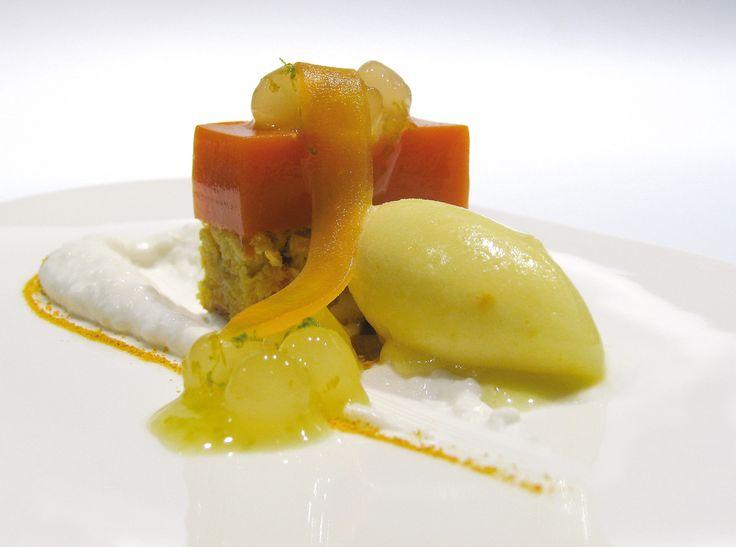 Pastel de zanahoria con coco, naranja y jengibre | #Recepte #receta #EspaiSucre #Postre   #Barcelona #Pastry #Restaurantdepostres