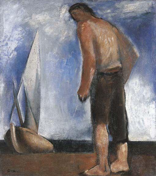 Mario Sironi Fisherman and sail 1929
