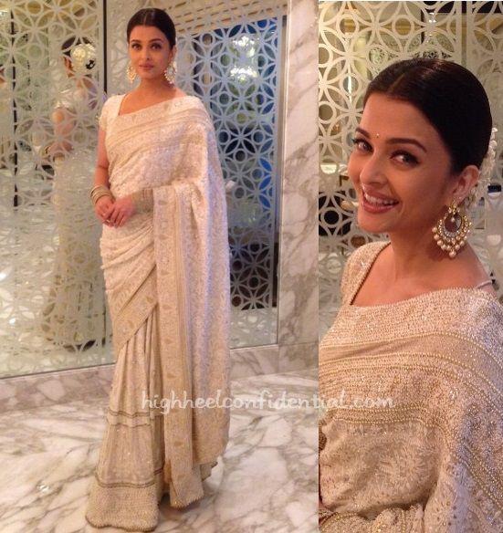 white sari