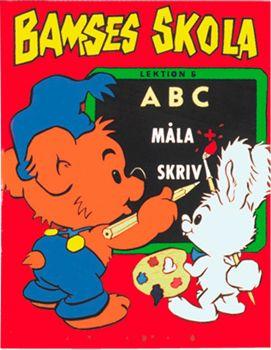 Bamses skola: ABC Måla+Skriva
