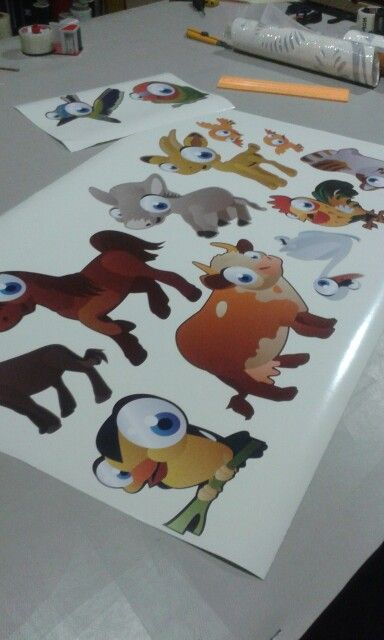 Cute animals wall decals
