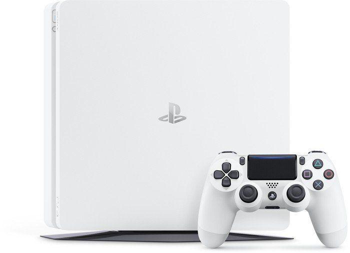 """Super Preis! Saturn verscherbelt jetzt die Sony Playstation 4 Slim 500 GB in weiß + 2. Controller (diesen bitte auswählen direkt über dem Button """"Auswahl in den Warenkorb"""") für nu 219€ (zzgl. 4,99€ Versandkosten).    #Computerspiele #Elektronik #Konsole #Playstation #Playstation4 #Playstation4Slim #PS4 #PS4SLim #Saturn #Sony"""