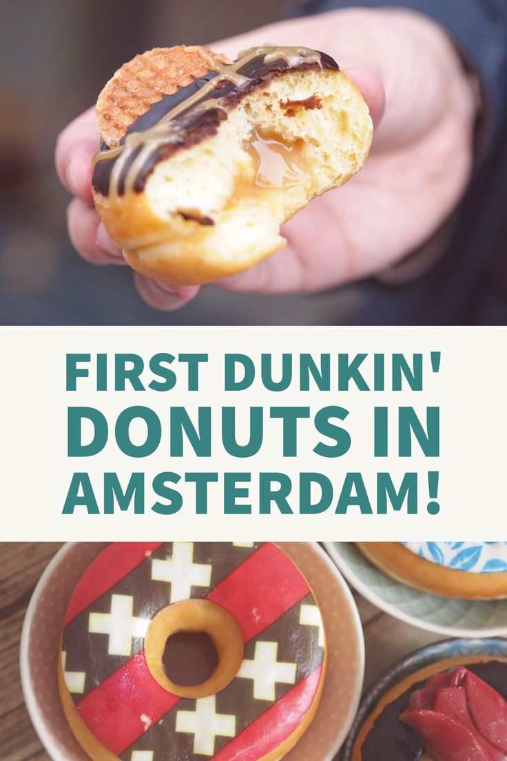 Trying Dunkin' Donuts for the first time! Starting with their special Dutch doughnuts :D